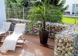 Muret de Gabion Stone decorative, pierre décorative pour aménagement paysager
