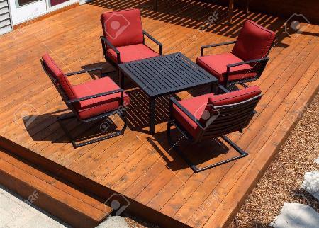 Terrasse en bois fabriquer de cèdre rouge de l'ouest
