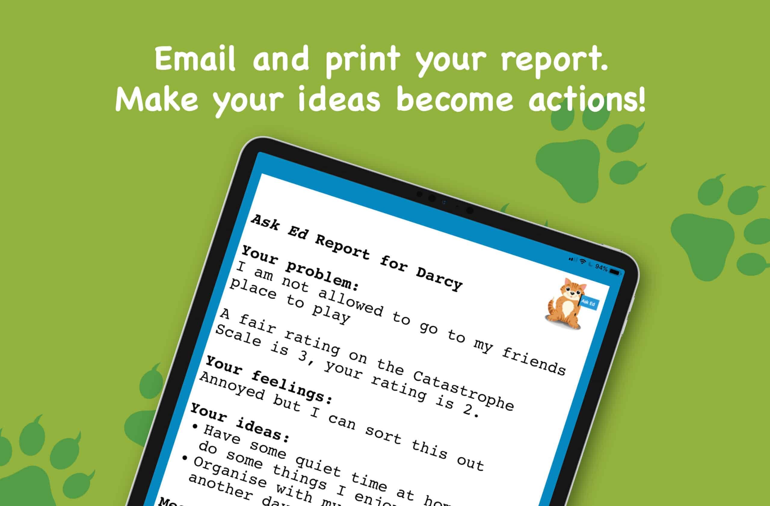 Did you know that Ask Ed provides a 'special  report'?