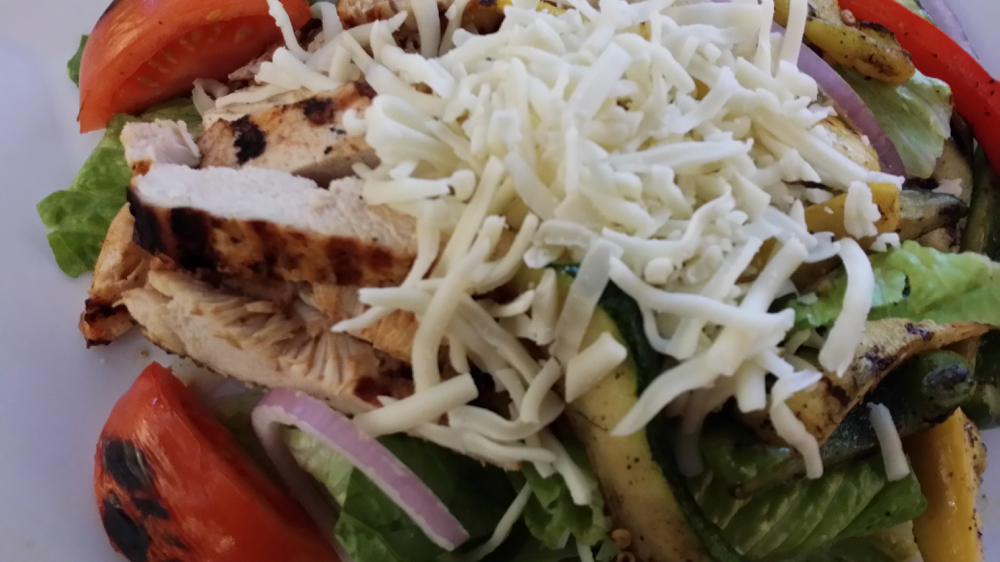 Grilled Chicken With Fresh Grilled Vegetables