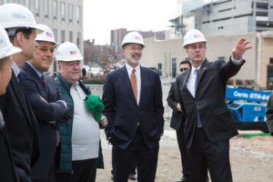 Governor Tom Wolf visiting the site of the new construction.