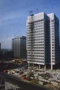 Thomas Paine Plaza under construction.