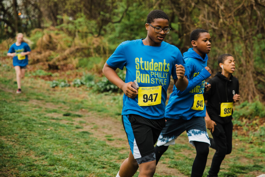 Students during a race. Photo by Heather McBride.