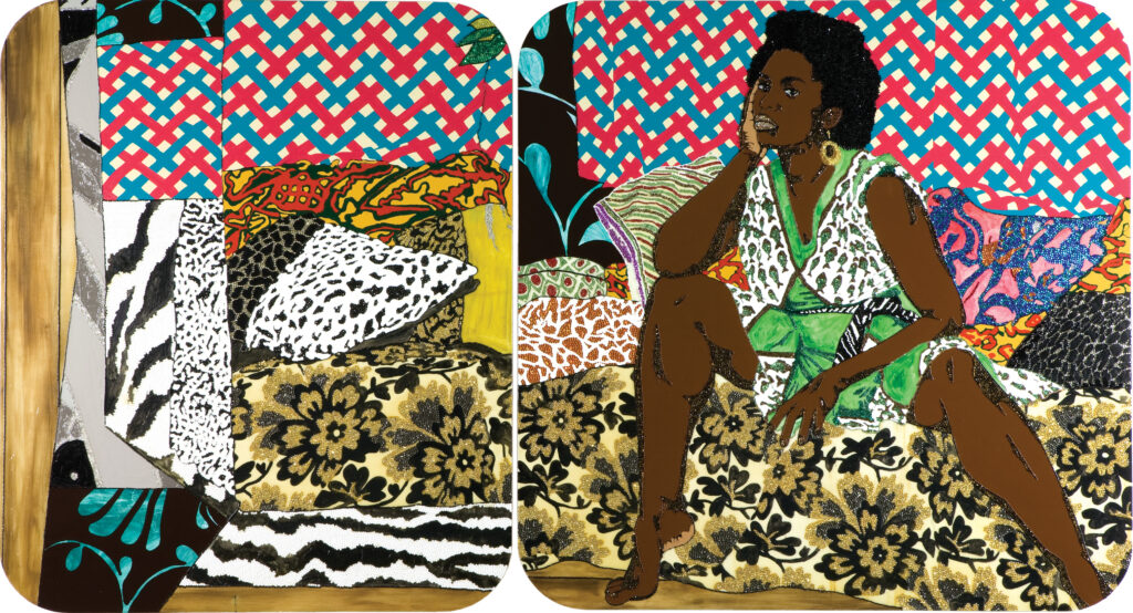 Mickalene Thomas Baby I Am Ready Now, 2007. Courtesy of Rubell Family Collection, Miami⁠