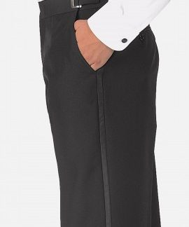 men's adjustable waist tuxedo pant