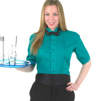 colored short sleeve wing tip tuxedo shirt