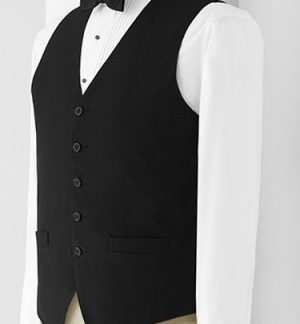 men's black waiters vest