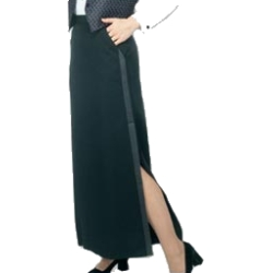 women's floor length tuxedo skirt