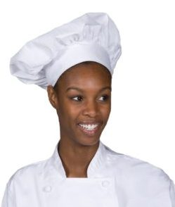 tradional white chef hat
