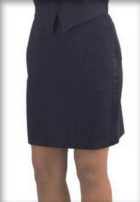 women's above the knee length tuxedo skirt
