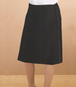 Womens below the knee tuxedo skirt