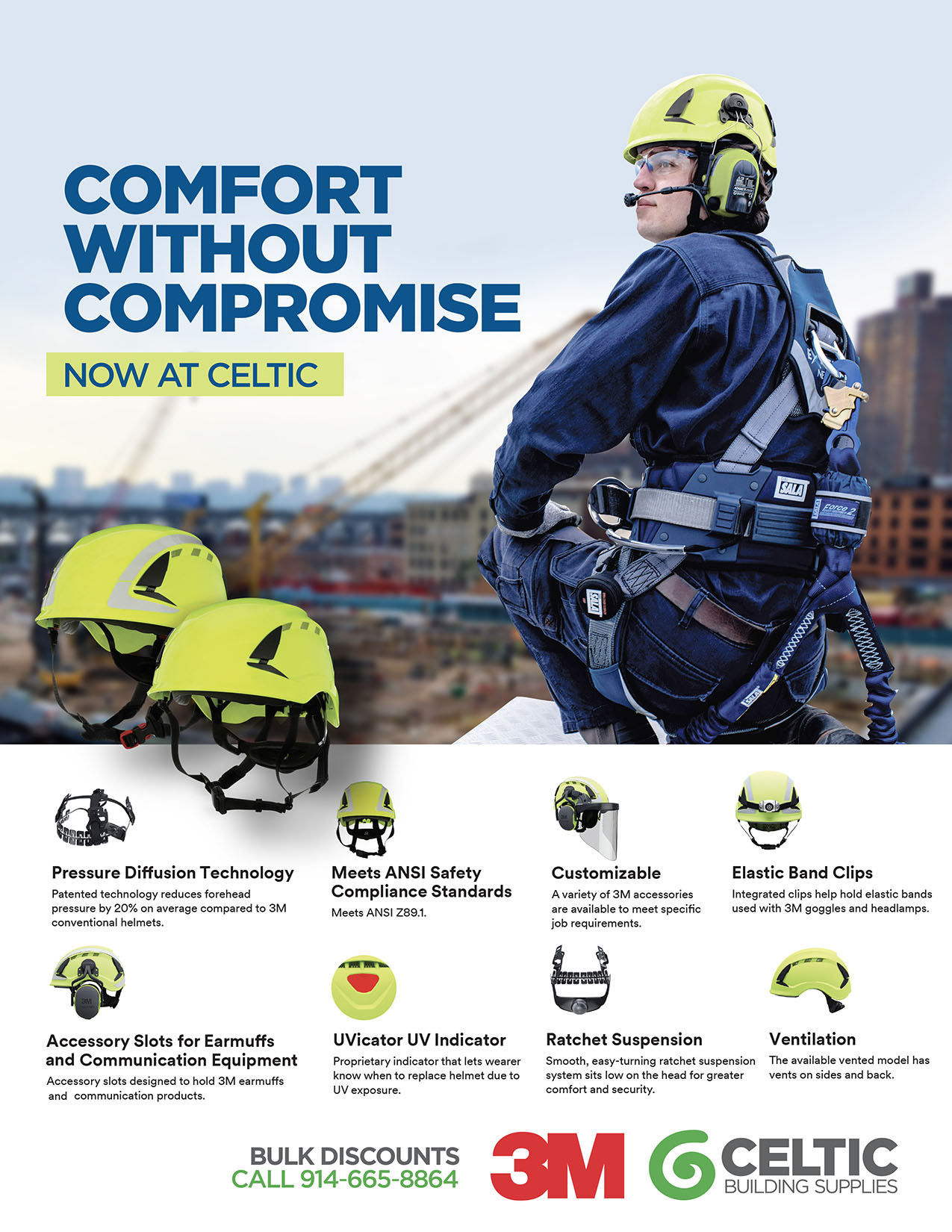 The New 3M™ SecureFit™ Safety Helmet X5000 Series