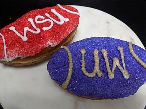 UW vs WSU Footballs