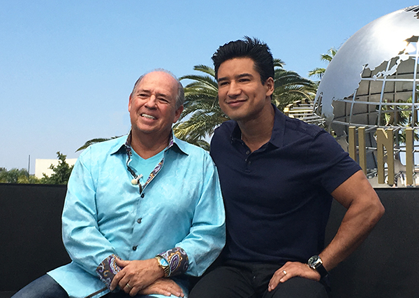 extra with mario lopez michael nitti