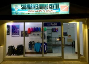 Old shop front of Submariner Diving Center in El Nido