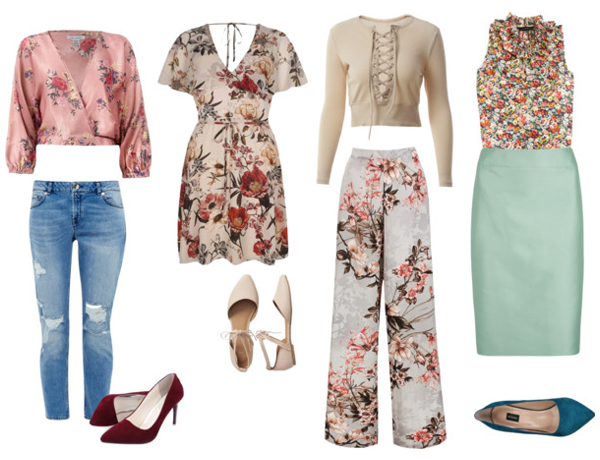 Senior Portrait Inspiration fun Floral prints casual and dressy