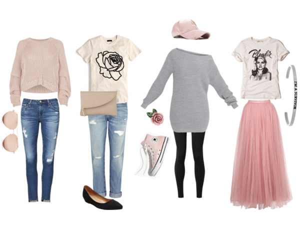 What to wear - senior portraits - Soft and Classic Pink
