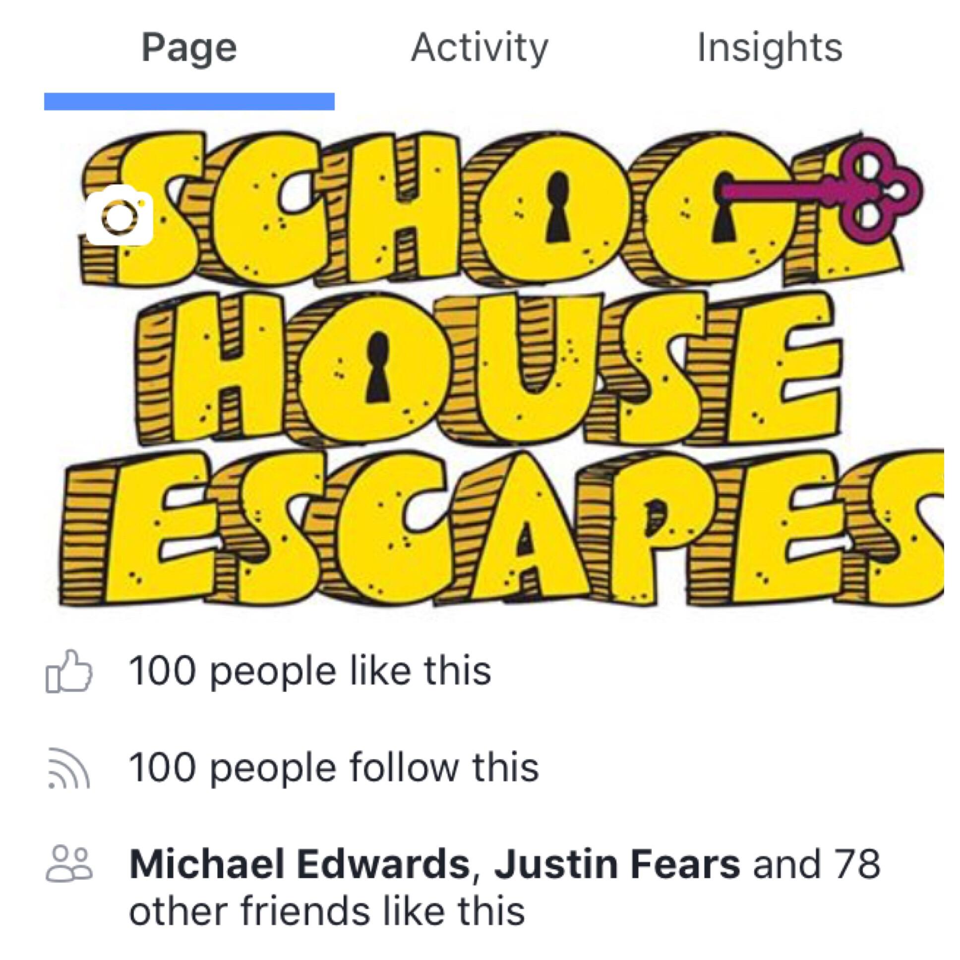 schoolhouse escapes facebook
