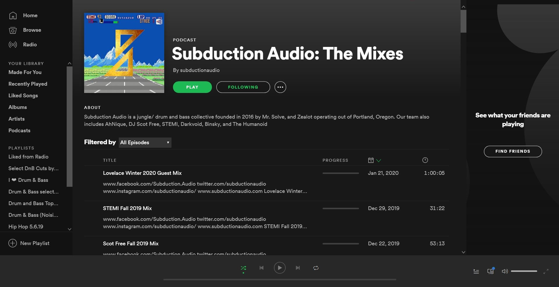 Subduction Audio podcast now on Spotify