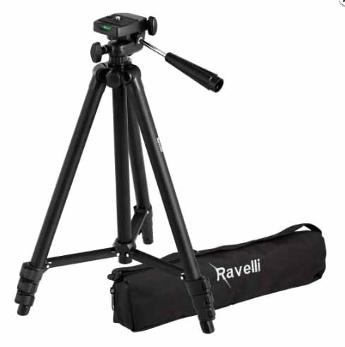 """50"""" tripod makes it easy to mount and secure your Bird Photo Booth 2.0. Mounting the Bird Photo Booth feeder to a tripod is the preferred mounting method. It gives you the freedom to position the Bird Photo Booth feeder to play with different backdrops and lighting."""