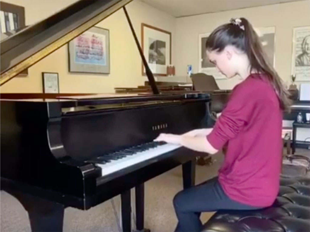 Cook Foundation Scholarship Winner playing piano