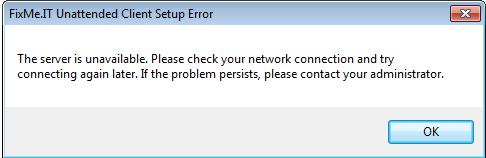 Server Error Screenshot
