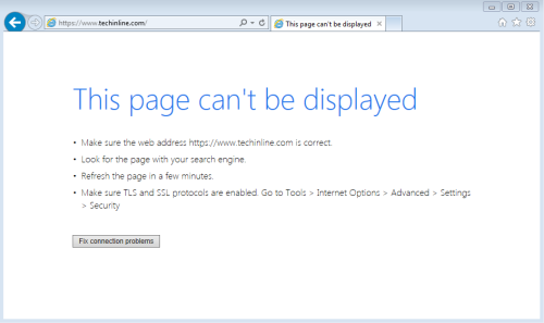 "How to Fix ""Page Cannot Be Displayed"" Error in Internet Explorer"
