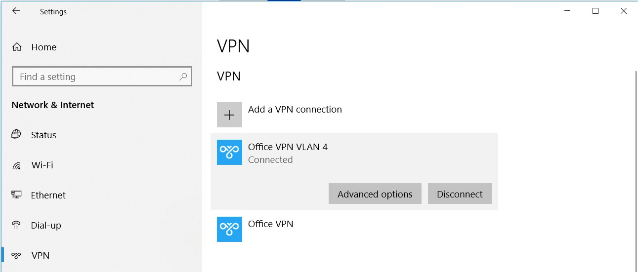 VPN Stuck on