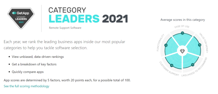 FixMe.IT named 2021 Category Leader for Remote Support Software