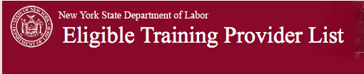 NYS dept of labor eligible training provider