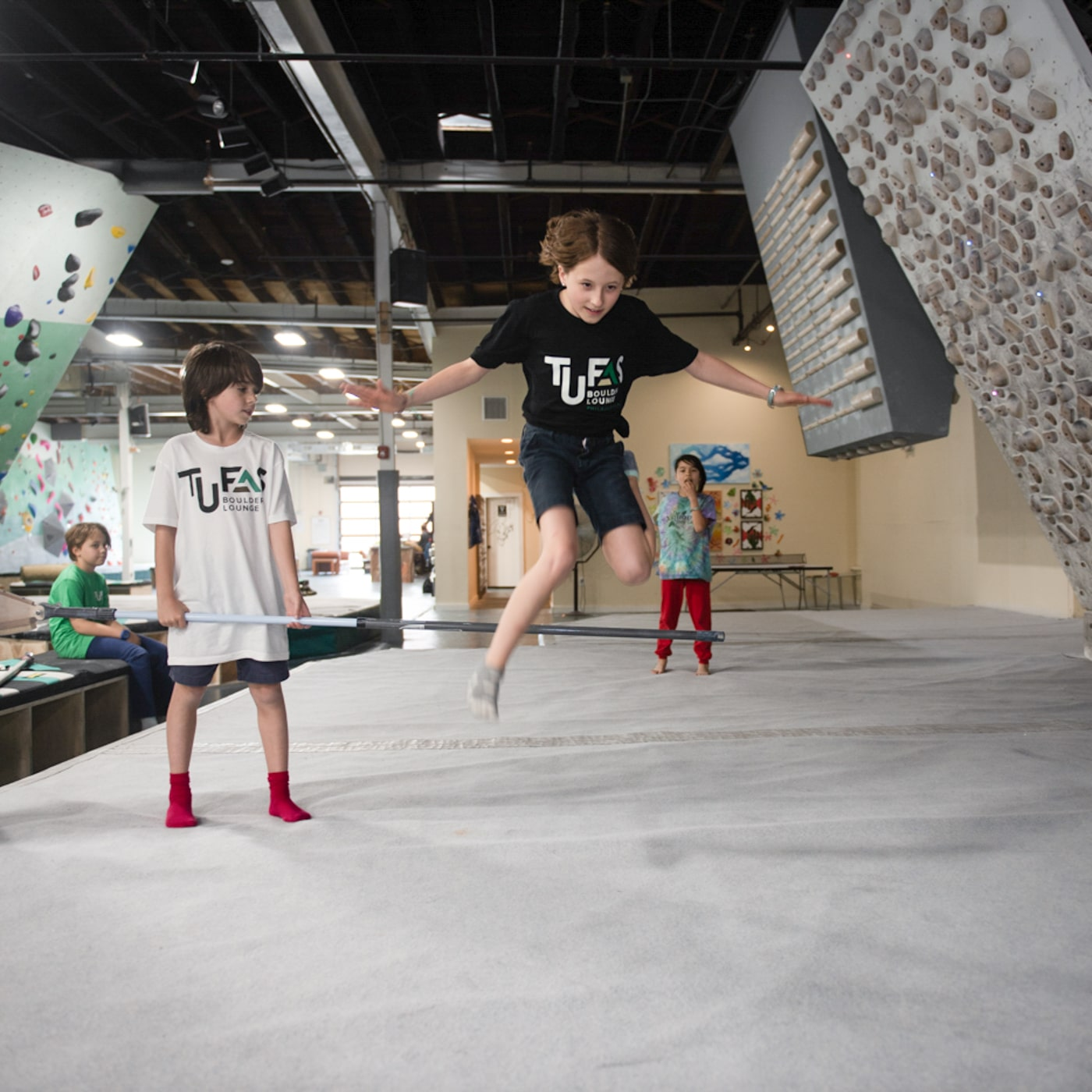 Team Tufas jumping for joy