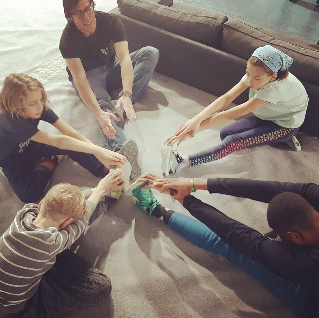 Team Tufas Stretching