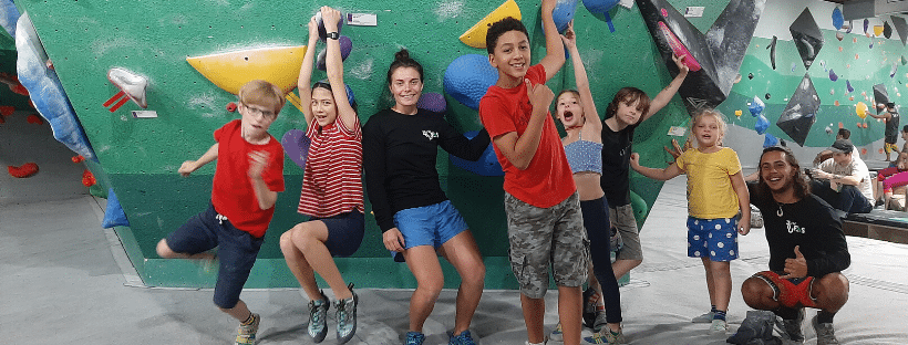 Youth Climbing Programs with Coach