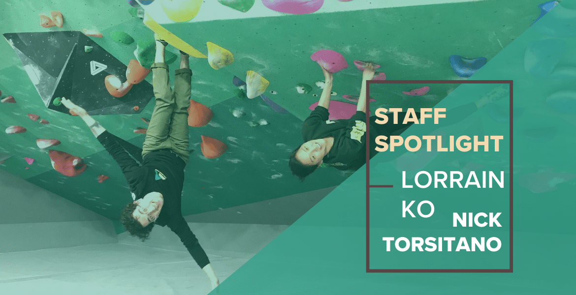 Staff Spotlight: Lorrain Ko and Nick Torsitano: Climbing and Physical Therapy