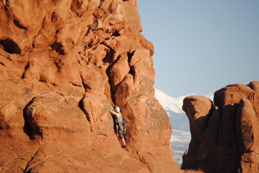 Dr. Jaffe Climbing wide shot