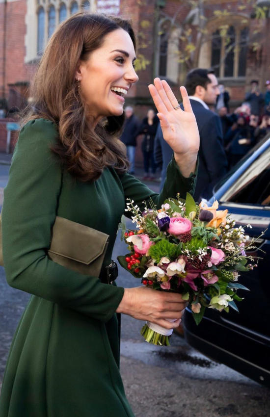 The Duchess of Cambridge in Beulah London Dress for Family Action Visit