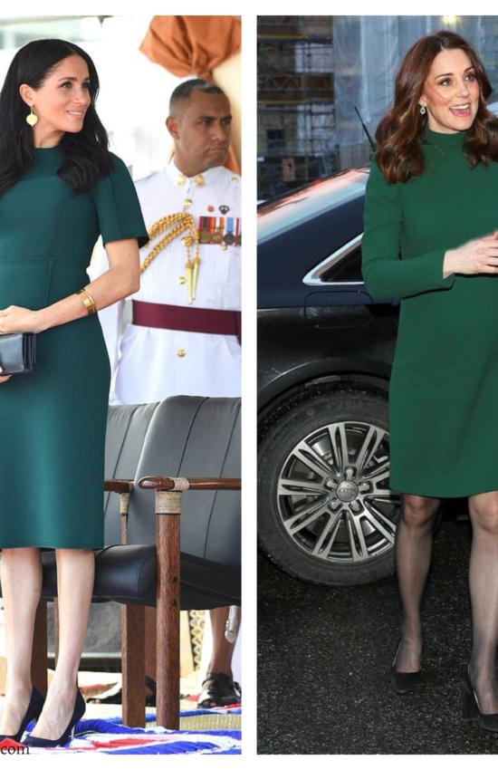 6 Times Kate Middleton and Meghan Markle's Maternity Style was Totally Twinning
