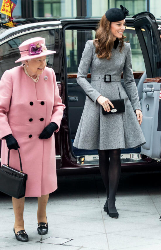 Kate Middleton in Catherine Walker for Outing with the Queen