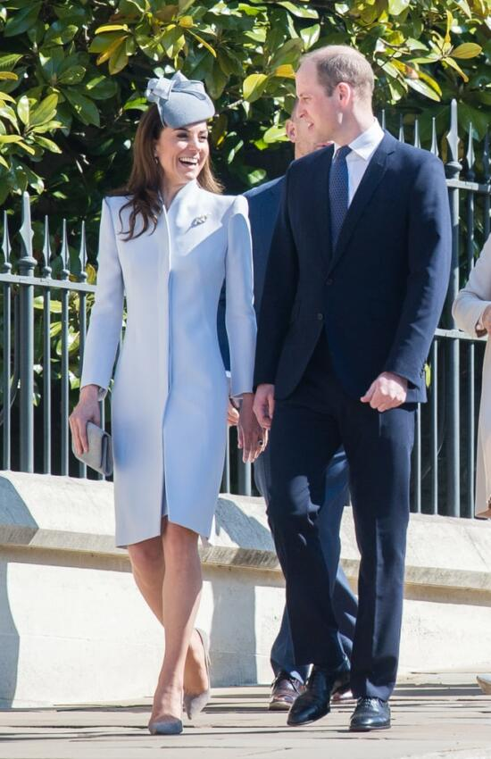 The Duchess of Cambridge in Repeat Alexander McQueen for Easter Services