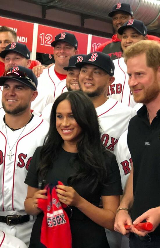 Meghan Markle in Stella McCartney Dress for Baseball Outing