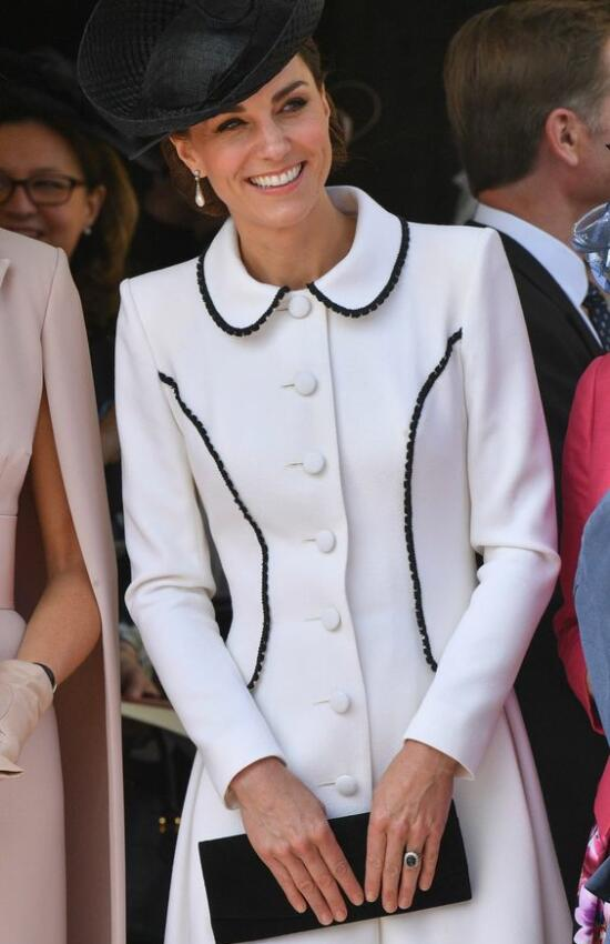 Kate Middleton in White Catherine Walker for Historic Garter Day
