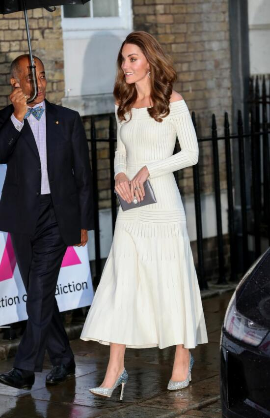 The Duchess of Cambridge Recycles Off-the-Shoulder Dress for Evening Gala