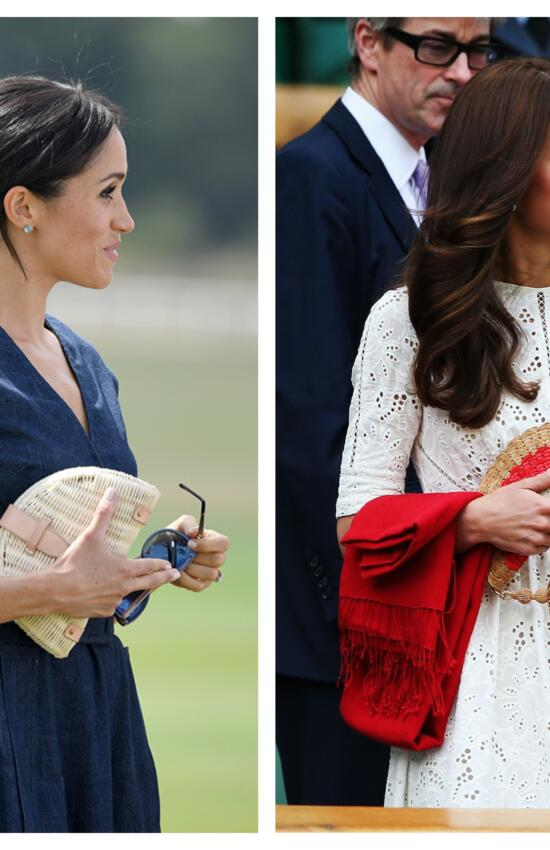 Meghan Markle and Kate Middleton's 5 Best Summer Friendly Straw Handbags