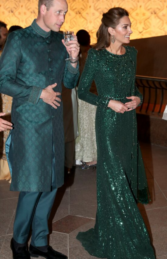 Kate Middleton Dazzles in Green Sequin Jenny Packham Dress
