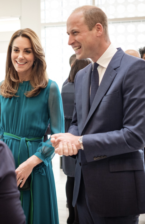 Kate Middleton in Green Maxi Dress for Aga Khan Centre Visit