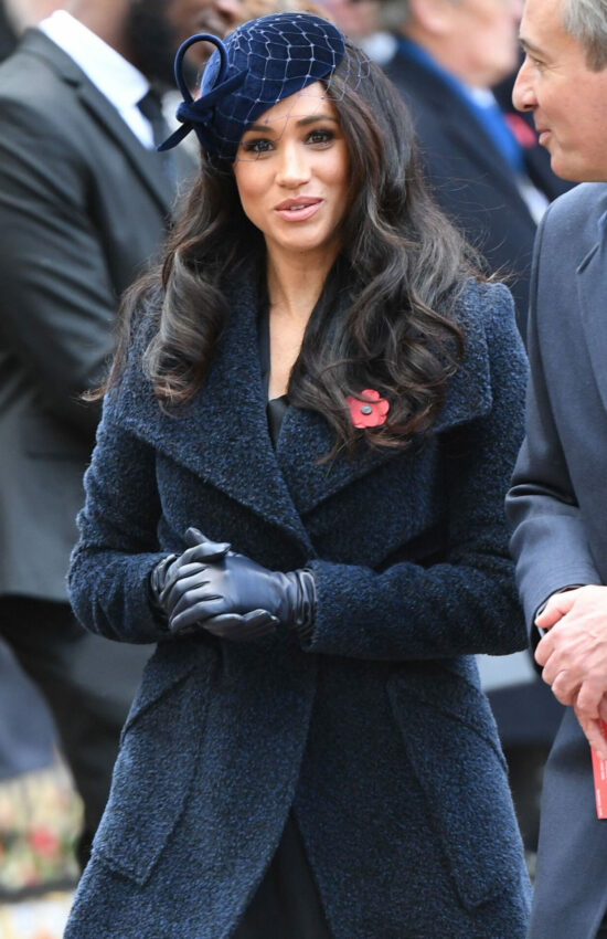Meghan Markle at Field of Remembrance Service for First Time in Sentaler