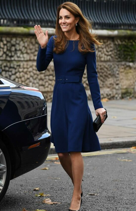 The Duchess of Cambridge in Emilia Wickstead for Launch of National Emergencies Trust