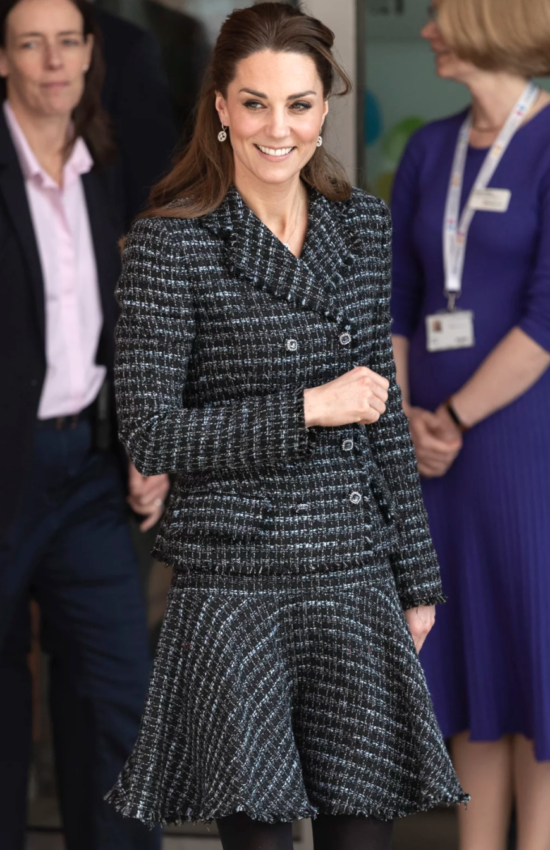 Duchess of Cambridge in Tweed Dolce & Gabbana for Children's Hospital Visit