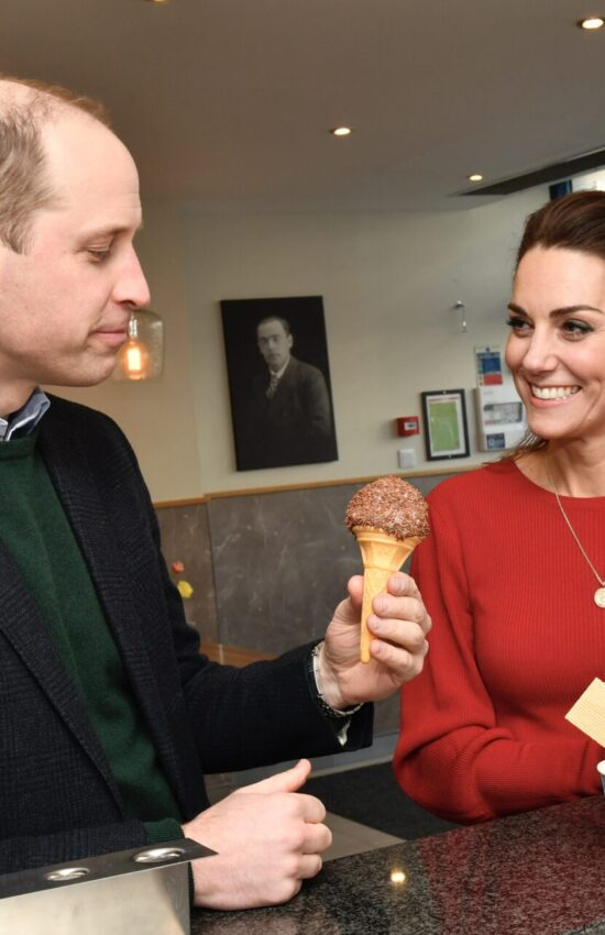 Duchess of Cambridge in Heart Shawl and Hobbs Coat for Trip to South Wales
