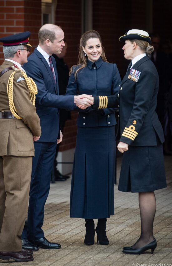 Duchess of Cambridge in Military-Inspired Alexander McQueen for Family Outing